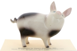 Hagen-Renaker Miniature Ceramic Pig Figurine Spotted Papa Pig