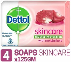 Dettol Skincare Soap, 125g (Pack Of 4) - 100% pure & Ayurvedic - $12.99