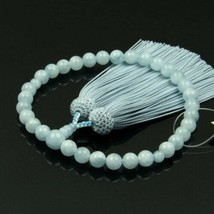 Nennju Buddhist Rosary Mala Juzu Prayer beads Japan Kyoto Aquamarine - $254.43