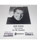 Jack Scalia Autograph Reprint Photo 9x6 All My Children 2002 Dallas Remi... - $9.99