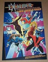 1987 Excalibur,Captain Britain,X-Men 17x11 Marvel Comics promo poster 1:... - $24.74