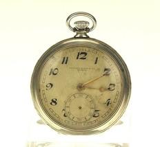 Rare RECORD Taschenuhr Herren Antike Uhr pocket watch no spindel uhren longines - $28.56