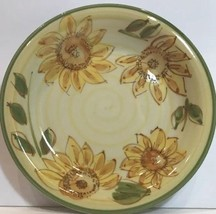 Gibson Designs Yellow Sunflowers 4 Pc. Salad Plates Green Stems & Trim 7... - $29.69