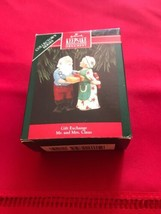 Hallmark Keepsake Gift Exchange Mr & Mrs Claus Christmas Ornament NEW - $9.49