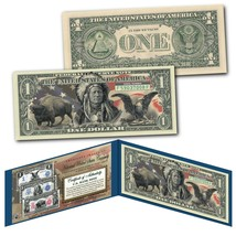 Americana Images of Historical U.S. Currency $1 Bill * BISON - INDIAN - ... - $11.26