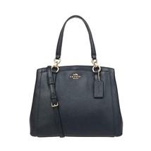 COACH Women's Crossgrain Leather Minetta Shoulder Bag, Handbag, Midnight - $256.90