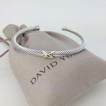 David Yurman Sterling Silver & 18k Gold X Stati... - $246.51