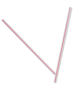 "NEW Dixie Unwrapped Stir Straws 5"" Red White 10,000 Straws Bulk Case HS5CC - $40.75"