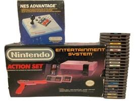 Nintendo Entertainment System Original Box NES Advantage Controller & 23... - $300.00