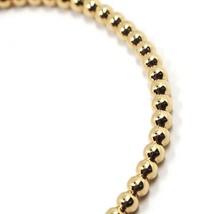 18K ROSE GOLD BRACELET, SEMIRIGID, ELASTIC, 3 MM SMOOTH BALLS SPHERES image 2