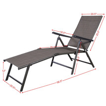 Pool Chaise Lounge Extremely Sturdy and Comfortable Chair Easy Stacking ... - $72.80