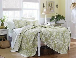 Laura Ashley Rowland Quilt Set, Twin, Sage - $144.86
