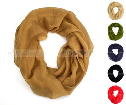 Women's Solid Color Spring Summer Light Weight Thin Infinity Scarf Circl... - $6.45