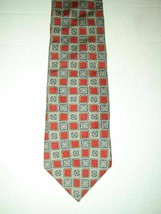 "Club Room Men's Silk Neck Tie Red Blue Gold Silver Gray Geo 57"" - NWOT - $11.76"