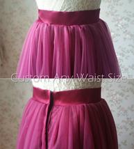 Full Tulle Maxi Skirt Plus Size Floor Long Tulle Skirt Wedding Guest Maxi Skirts image 9