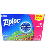 Ziploc Seal Top Snack Bags, Grip 'n Seal Technology (280 Count Mega Pack) - $26.79
