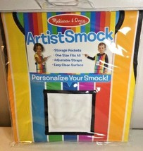 ARTIST SMOCK Kids Painting Apron ~ Crafts EZ clean ~ Melissa & Doug - $9.59