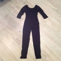 Black CATSUIT UNITARD LEOTARD Girls 6/7 - $23.06