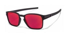 Oakley Sunglasses Latch SQ OO9353-03 Matte Black Frames Red Lens 52MM - $88.53
