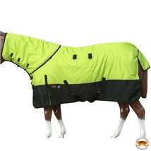 """78"""" Hilason 1200D Waterproof Poly Turnout Horse Blanket Neck Cover Lime U-G-78 - $114.99"""