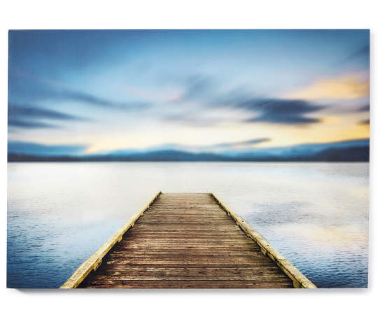 Dock photograph lacquer wall art 36 inches x 26 inches silo front