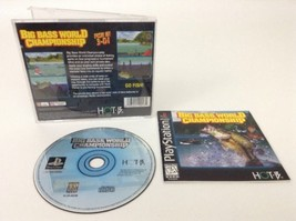 Big Bass World Championship PS1 Playstation 1 Complete Game Case Manual - $8.86