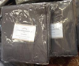 Pottery Barn Set 2 Cotton Basketweave Drape Flagstone Gray 50x84L Curtains Pair - $92.79