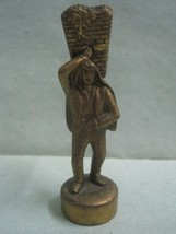 Antique small men Portuguese regional costume in broze statue figure Bar... - $20.78