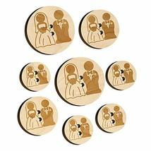 Bride and Groom Wedding Wood Buttons for Sewing Knitting Crochet DIY Craft - Med - $9.99