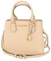 Michael Kors Adele Pastel Pink Leather Shoulder Messenger Bag Handbag - $354.07