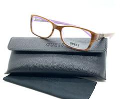 GUESS Eyeglasses Frame GU2274 AMB 52-16-135 Light Brown Marble/Lavender  - $31.98