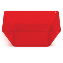 Translucent Red 5 inch Plastic Square Bowl/Case of 48 - $94.60 CAD