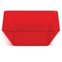 Translucent Red 5 inch Plastic Square Bowl/Case of 48 - €62,44 EUR