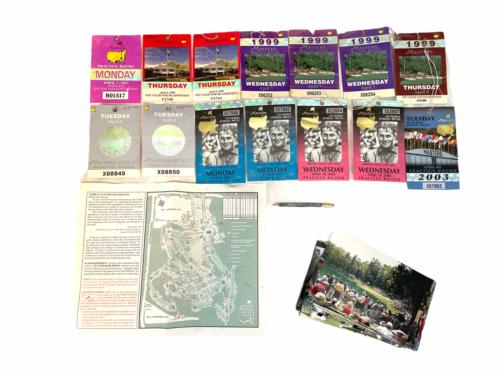 Lot of Vintage Masters Tournament Ticket Collection 1997-2003 Augusta Ephemera