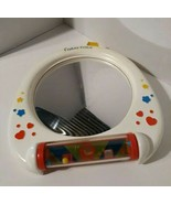 Vintage Fisher-Price mirror 1991 /RARE/ Crib, playpen toy/ with yellow s... - $18.70