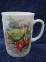 Vintage Creative Fine China Cherry & Pear Mug No.3 - $3.99
