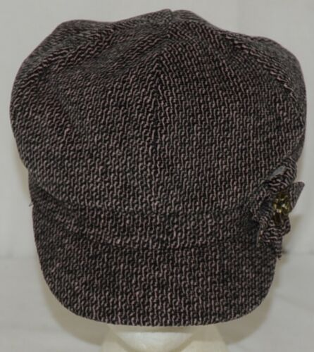 Arianna by Howards Fall Winter Tweed Texture Brimmed Hat Pink Black