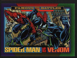 Alex Saviuk SIGNED 1993 Marvel Universe Trading Art Card ~ Spiderman Vs Venom - $19.79
