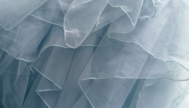 Grace High Low Tiered Tulle Skirt Wedding Bridal Tier Tulle Outfit, Dusty Blue image 5