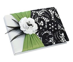 Lillian Rose Wedding Ceremony Green and Black Guest Book GB750 - $19.35