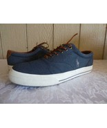 Polo Ralph Lauren Vaughn Lace Sneakers, Denim, Herringbone Chambray, US ... - $22.13