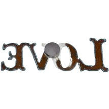 """Country Western Rusted Patina Iron Metal Cutout """"LOVE"""" 4.75"""" Magnet image 2"""