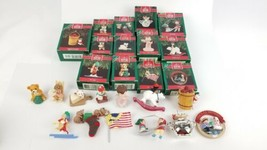 (Lot of 13) Vtg Hallmark Holiday Keepsake Christmas Ornament 1990's Collection - $29.09