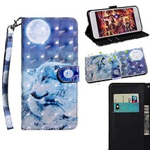 XYX Wallet Phone Case for Motorola Moto E5 Play GO,[Wrist Strap] Painted... - $9.88