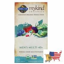 Garden of Life, MyKind Organics, Men's Multi 40+, Whole Food Multivitamin, 120 V - $99.96