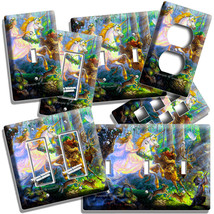 Whimsical Forest Fairy Unicorn Troll Light Switch Outlet Wall Plates Room Decor - $10.99+