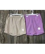 Wonder Nation Girls Pull On Bermuda Shorts Pink Khaki Large PLUS (10-12)... - $19.79