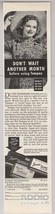 Tampax Tampons '40s PRINT AD woman in sun hat Feminine Hygiene clipping ... - $9.74