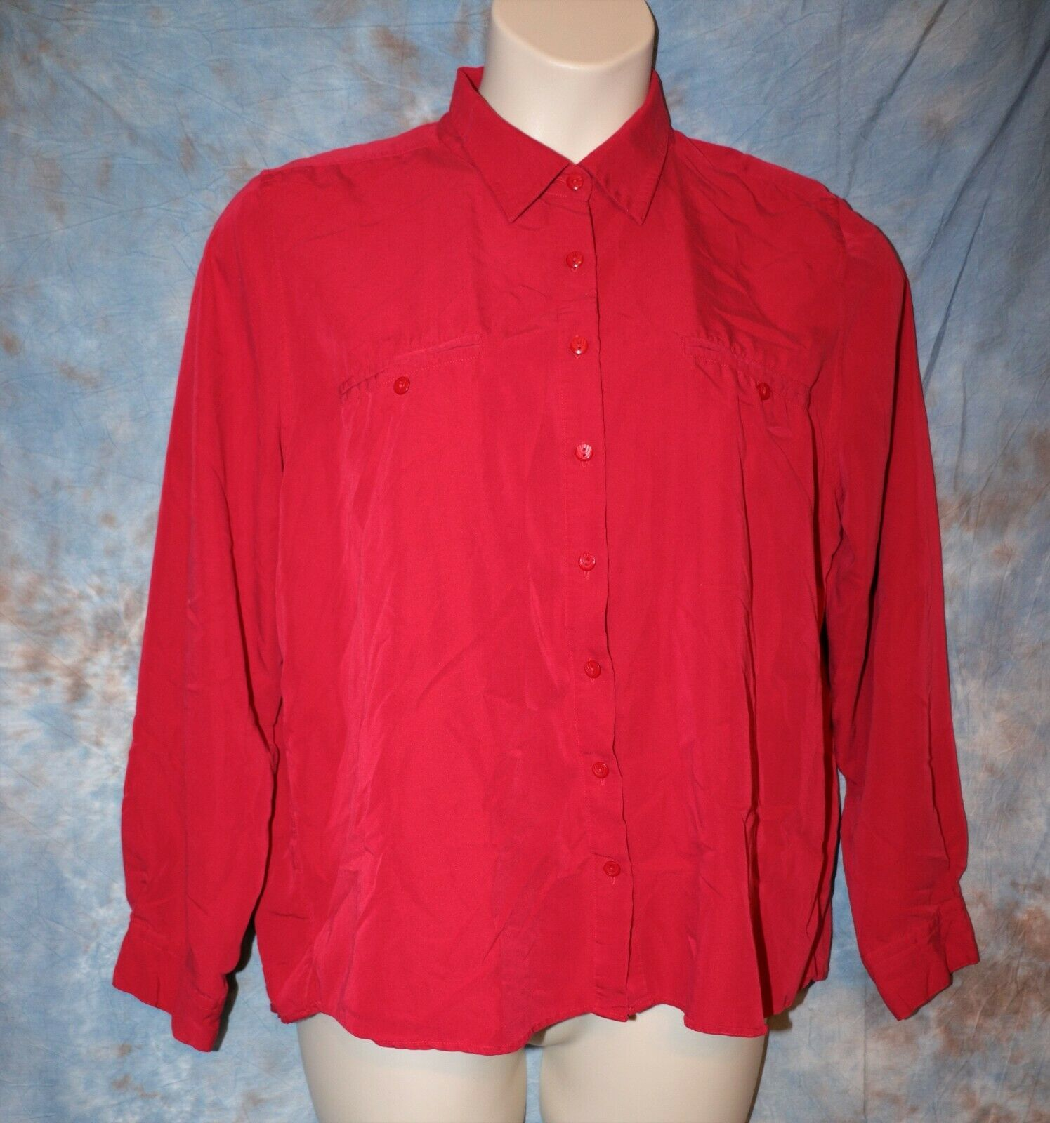 Primary image for Womens Red Christopher & Banks Long Sleeve Shirt Size XL excellent