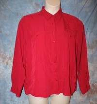 Womens Red Christopher & Banks Long Sleeve Shirt Size XL excellent - $7.91